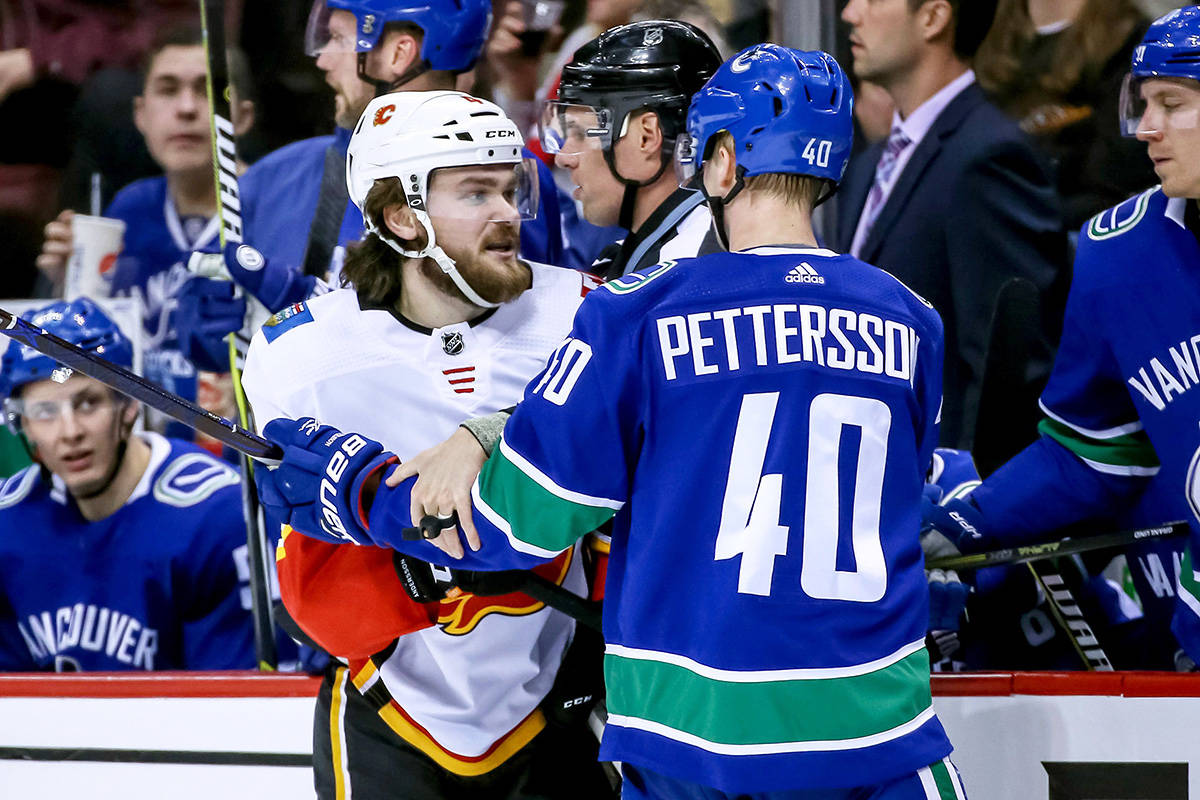 Calgary Captain Has 3 Points As Flames Torch Canucks 3 1 Peninsula News Review