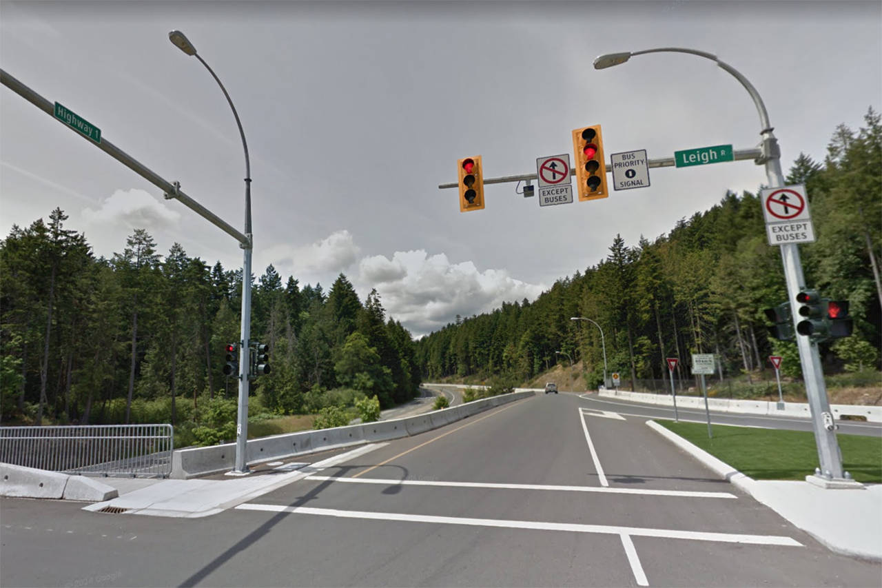 Highway 1 just south of Malahat Drive to see lane expansion
