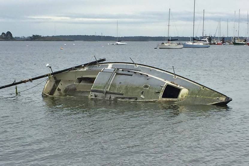 Group desperate to find solution to wrecks lining shores of Cadboro Bay - Peninsula News Review