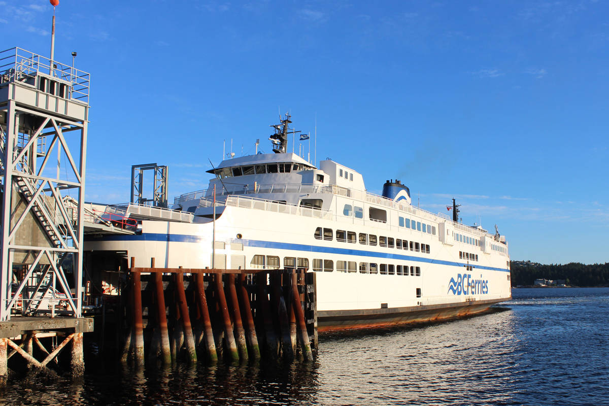 B C Ferries Increasing Passenger Capacity After Covid 19 Restrictions Peninsula News Review